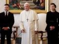 Появились фото встречи четы Зеленских и Папы