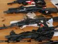 КГБ Беларуси показал оружие и украинскую символику задержанных