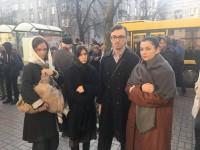 В транспорте Киева актеры покажут образы людей времен Голодомора