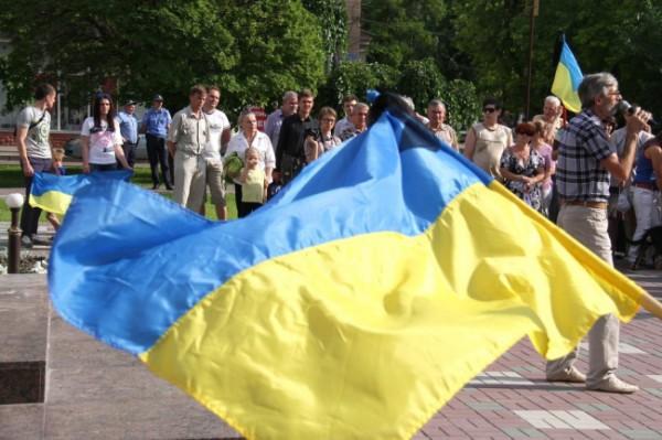 Траурный митинг в память о погибших летчиках. Мелитополь 14 мая
