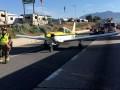 В США самолет сел на шоссе