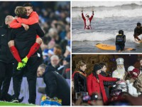 День в фото: победа Ливерпуля, Санта-Клаус - серфер и открытие главной елки