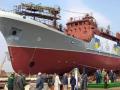 В Киеве спустили на воду уникальный разведкорабль для ВМС