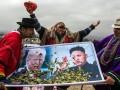 На встречных курсах: карикатура о перепалках Ким Чен Ына и Трампа