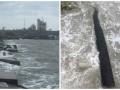 Шторм в Крыму раскидал защитные конструкции Керченского моста