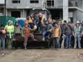 Киевские строители митинговали против титушек