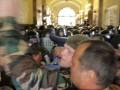 Неизвестные бросили дымовую шашку в здание Львовского горсовета
