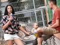 На Днепропетровщине засняли мать, которая поила пивом малыша в коляске