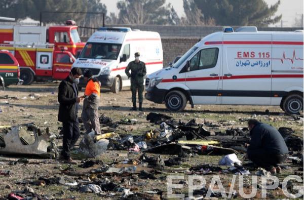 Место крушение украинского Боинга 737