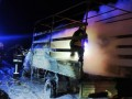 В Днепропетровской области сгорел грузовик, который перевозил мебель