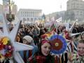 Рождество на Майдане: узвар, пампушки и побитые провокаторы