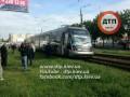 Новый трамвай Электрон сошел с рельсов в Киеве