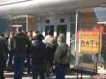В Житомире С14 забросали шашками кафе из-за карты без Крыма