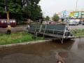 Под Днепром пронесся мощный ураган с ливнем