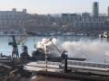 В порту Владивостока горел противолодочный корабль