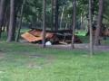 В киевском парке Партизанской славы вандалы разбили все беседки