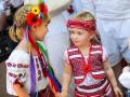 Патриотичные украинцы: В Киеве прошел Мегамарш в вышиванках
