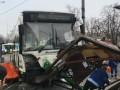 Автобус въехал в остановку в Москве, есть пострадавшие