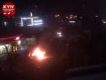 На улице Срибнокильской в Киеве полыхает авто