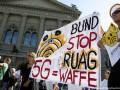 В Швейцарии протестовали против мобильной сети 5G