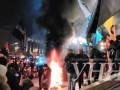 На Майдане подожгли шины, произошла потасовка