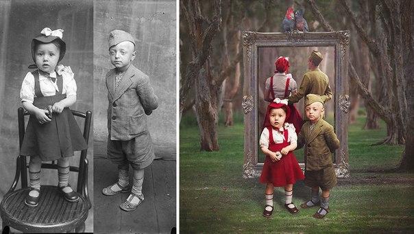 Сюрреалистическая жизнь старых фото