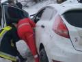 На трассе Киев-Чоп столкнулись авто и микроавтобус