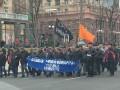 В Киеве чернобыльцы перекрыли Крещатик