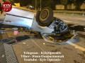На трассе под Киевом пьяный коп выжил после разрушительной аварии