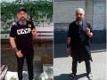 В Киеве полицейские заставили мужчину снять футболку с символикой СССР