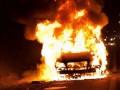 На Ивано-Франковщине сожгли машины милиции возле райотдела