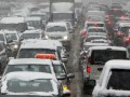 Киев сковали пробки из-за снегопада