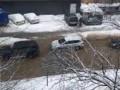 Улицу Киева залило водой