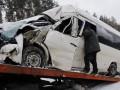 На Житомирской трассе маршрутка влетела в грузовик, трое пострадавших