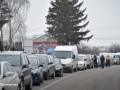 Протестующие вновь блокировали дорогу к КПП Рава Русская