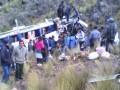В Перу автобус упал в пропасть: десять погибших