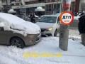 Показаны фото, как в Киеве столкнулось девять машин