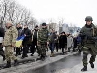 Марш мира в Волновахе прошел с украинскими военными