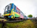 В Киеве отправился по маршруту первый раскрашенный поезд метро