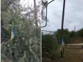 В Станице Луганской осквернили украинский флаг