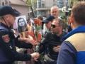 В Одессе полиция остановила колонну байкеров с красными флагами