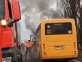 На Закарпатье загорелся школьный автобус