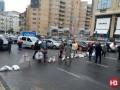 Улицу Бассейную в Киеве перекрыли местные жители