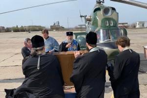 """В Запорожье провели """"крестный ход"""" на вертолете против COVID-19"""