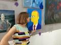 В Москве украли картину с Путиным, выполненную в стиле