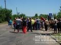 В Донецкой области люди перекрыли трассу из-за отсутствия воды