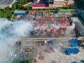 В Днепре загорелся завод по производству туалетной бумаги