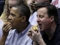 Обама и Кэмерон провели вечер на баскетбольном матче