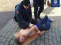 Одесские полицейские задержали полуголого
