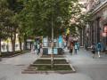 В Киеве на Крещатике за ночь исчезли все лавочки